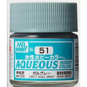 H-051 Gloss Light Gull Grey (10ml) - Mr. Color for Aircraft Models USA
