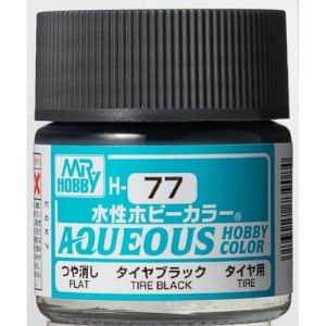 H-077 Flat Tyre Black (10ml) - Mr. Color for Car Models