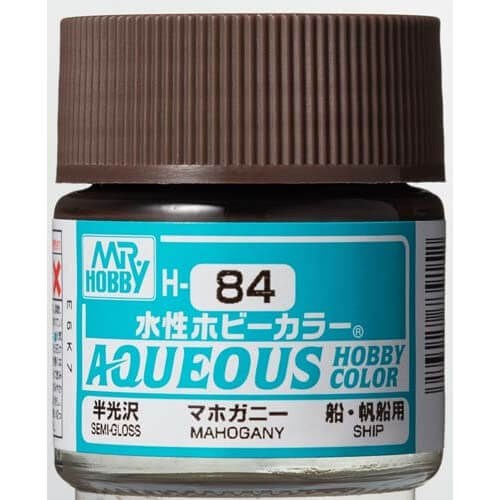 H-084 Semi-Gloss Mahogany (10ml) - Mr. Color for Worship Models