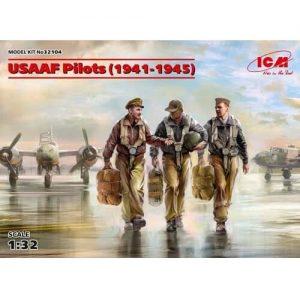 1:32 Пилоти на USAAF (1941-1945) (100% нови отливки) - 3 фигури