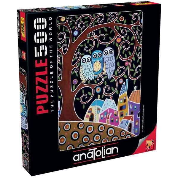 Пъзел Anatolian от 500 части - Три бухалчета, Карла Джерард