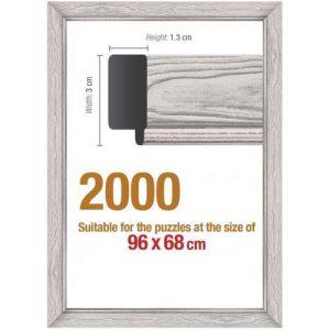 Рамка за пъзел Art Puzzle - Бяла за 2000 части