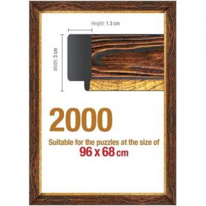 Рамка за пъзел Art Puzzle - Кафява за 2000 части