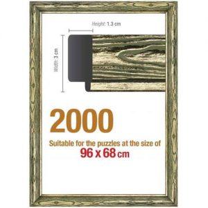 Рамка за пъзел Art Puzzle - Златиста за 2000 части
