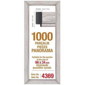 Рамка за панорамен пъзел Art Puzzle - Бяла за 1000 части