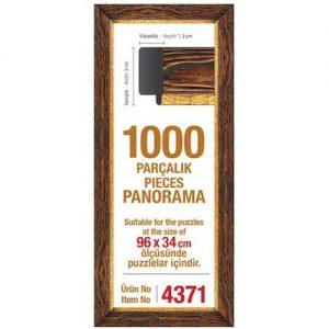 Рамка за панорамен пъзел Art Puzzle - Кафява за 1000 части