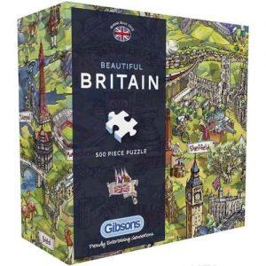 Пъзел Gibsons от 500 части - Красива Британия, Мария Рабинки