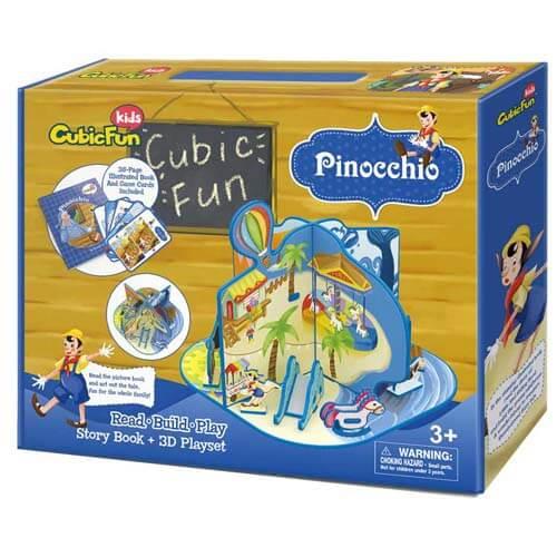 Cubic Fun Пъзел 3D Приказка Пинокио на Български език E1604h x10