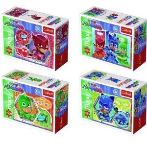 Мини пъзел Trefl от 20 макси части - PJ Masks и техните превозни средства, асортимент