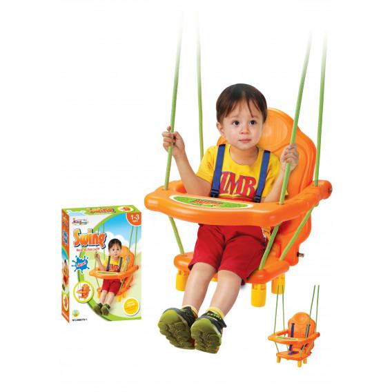 Детска люлка с подвижна табла и колани King Sport