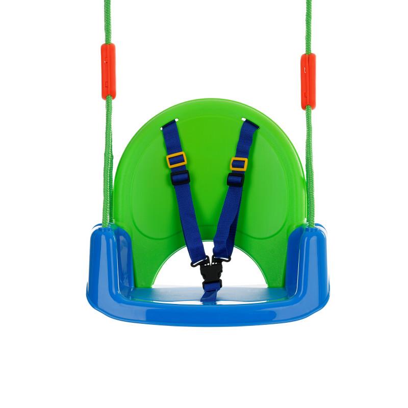 Детска люлка с предпазен борд и колани King Sport