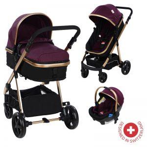 Комбинирана бебешка количка Zizito BELINDA 3в1