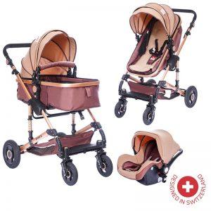 Комбинирана бебешка количка Zizito FONTANA 3в1