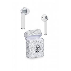 Слушалки Cellularline - Music Sound, true wireless, бели