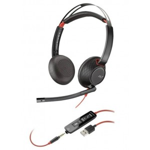 Слушалки Plantronics Blackwire - C5220, черни