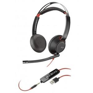 Слушалки Plantronics Blackwire - C5220, черни
