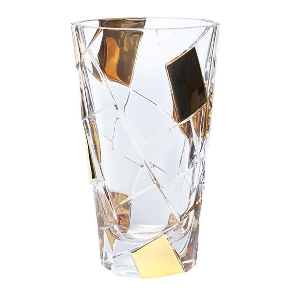 Ваза Bohemia Crack Gold, 30.5 cm