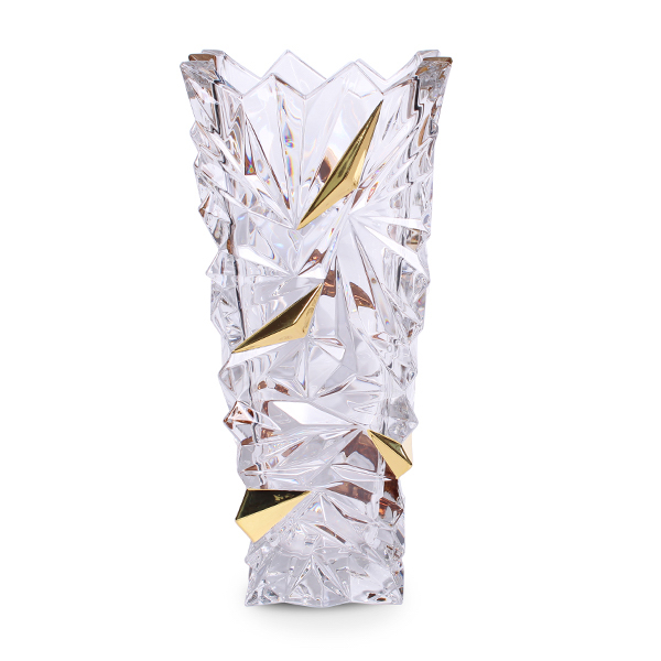 Ваза Bohemia Glacier Gold, 30.5 cm