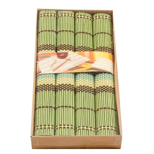 К-т бамб. подложки 4 бр. плетка, зелен