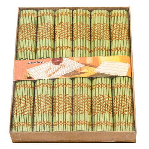 К-т бамб. подложки 6 бр. мрежа, зелен