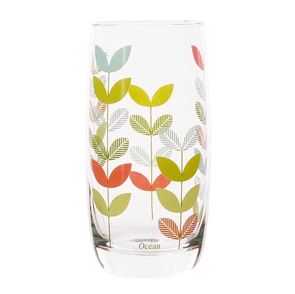 Чаши за вода Ocean Natural Green Leaf