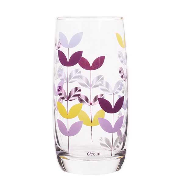 Чаши за вода Ocean Natural Purple Leaf