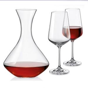 Декантер и чаши 2 бр. Bohemia Sandra 450 ml