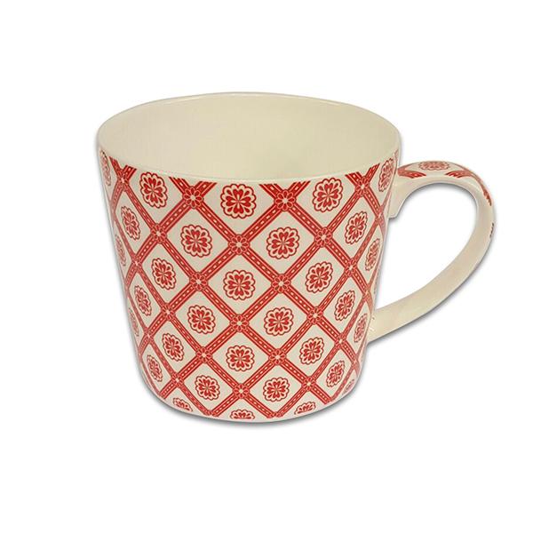 Порцеланова чаша Mug Jameson+Taylor Red pattern