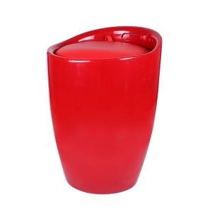 Табуретка Eleganta, ABS пластмасa, кръгла, червена