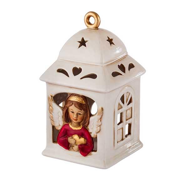 Коледен фенер за свещ Ангел