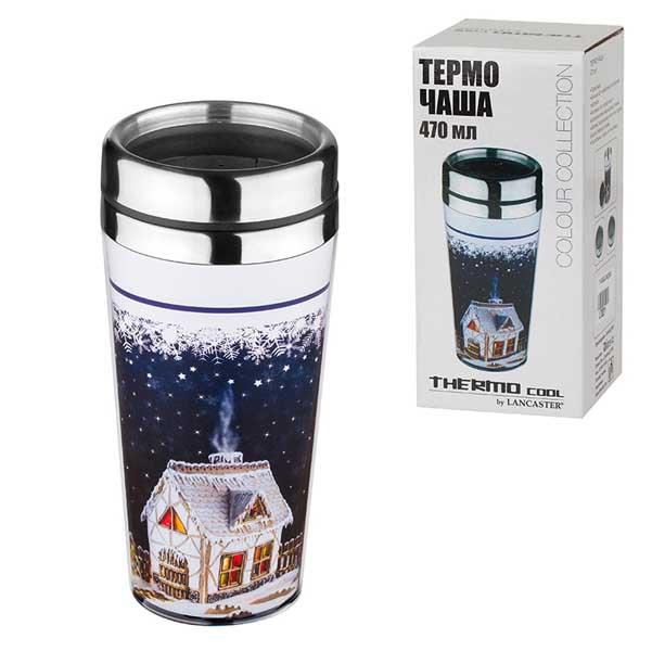 Коледна термо чаша Къща сладкиш