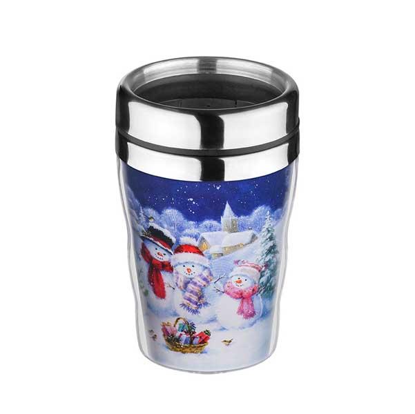 Коледна термо чаша Снежни човечета