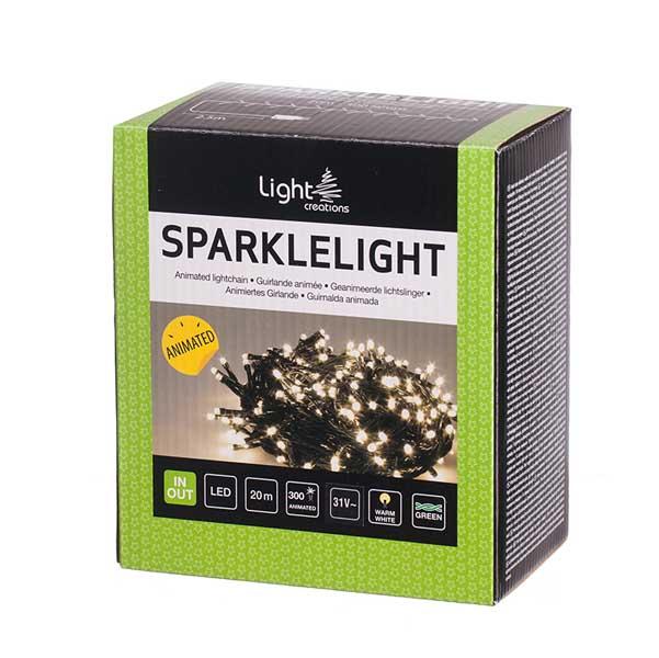 Коледно осветление 300 мигащи LED лампички 20м