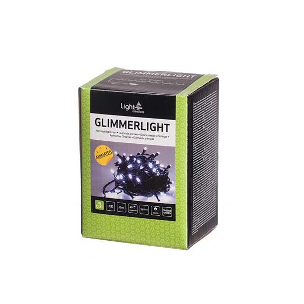 Коледно осветление 40 мигащи LED лампички 6м