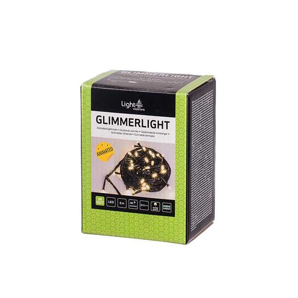 Коледно осветление 40 мигащи LED лампички топла светлина
