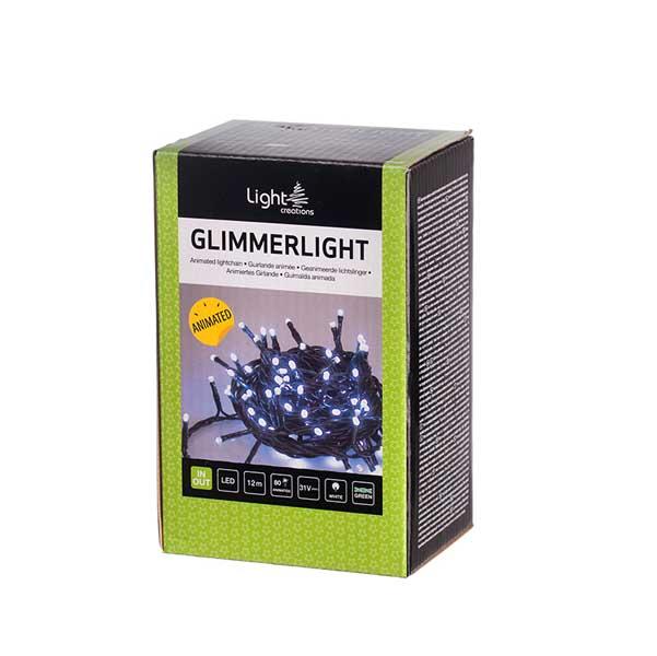 Коледно осветление 80 мигащи LED лампички 12м