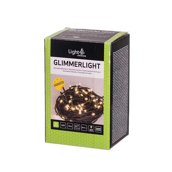 Коледно осветление 80 мигащи LED лампички топла светлина