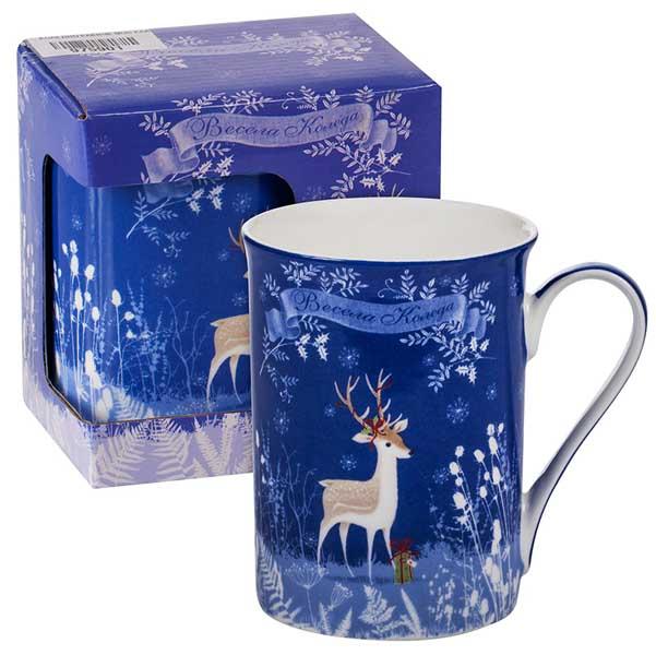 Порцеланова чаша MUG Коледно еленче