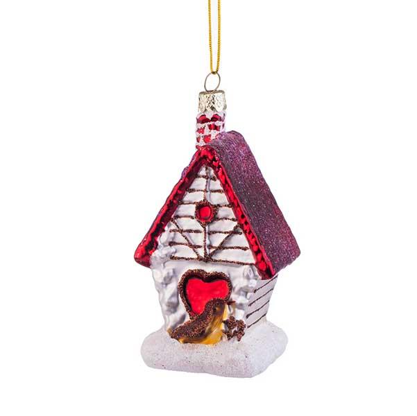 Стъклен играчка къща за птички