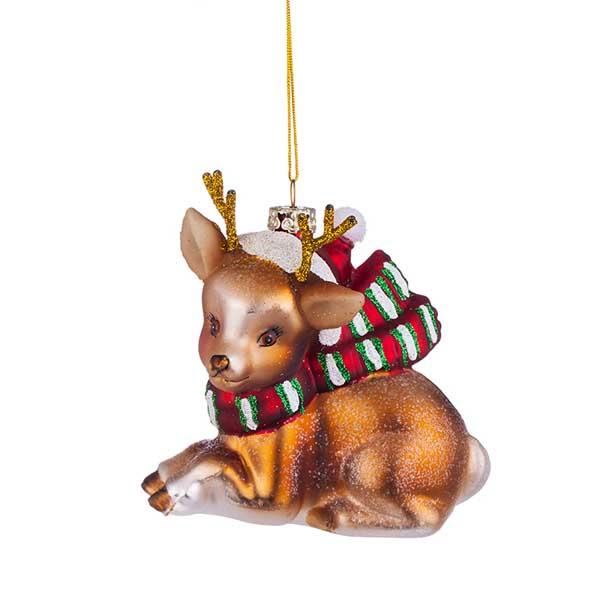 Стъклена играчка за елха Еленче
