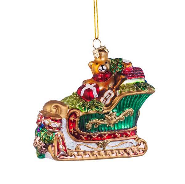 Стъклена играчка за елха Шейната на Дядо Коледа
