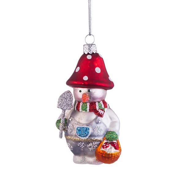 Стъклена играчка за елха Снежен човек