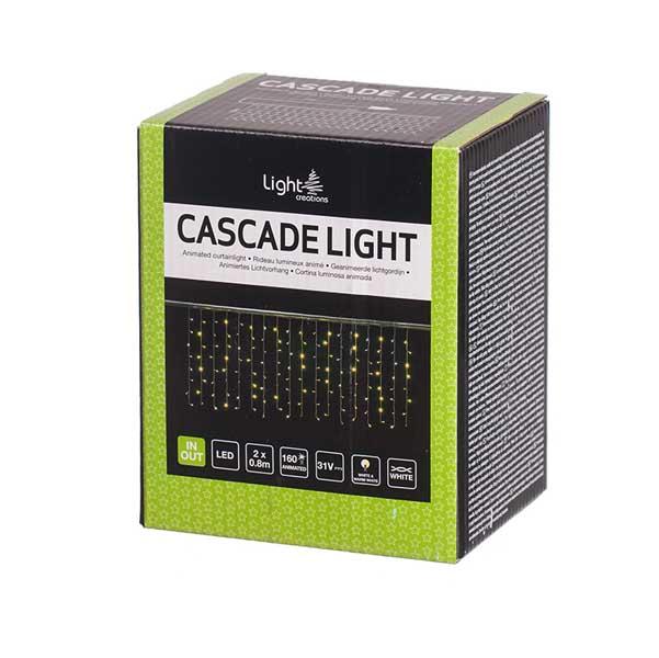 Светеща завеса 160 мигащи LED лампички 2х0.8м