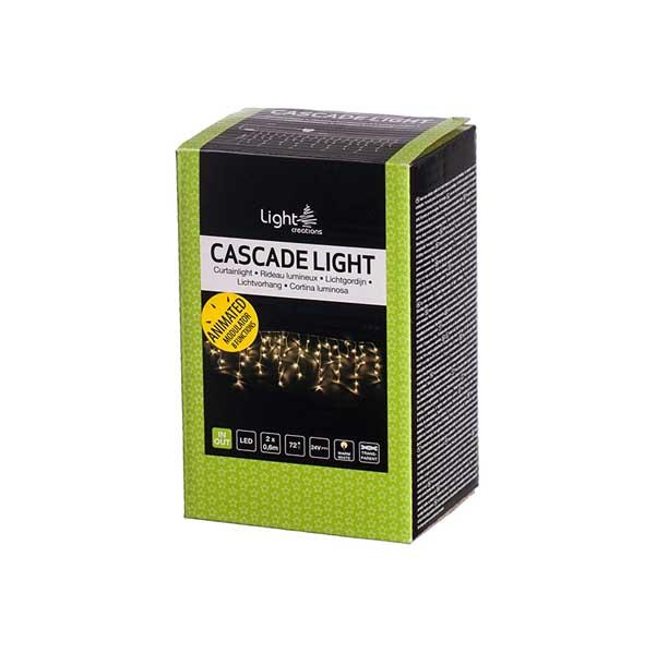 Светеща завеса 72 LED лампички 2х0.6м