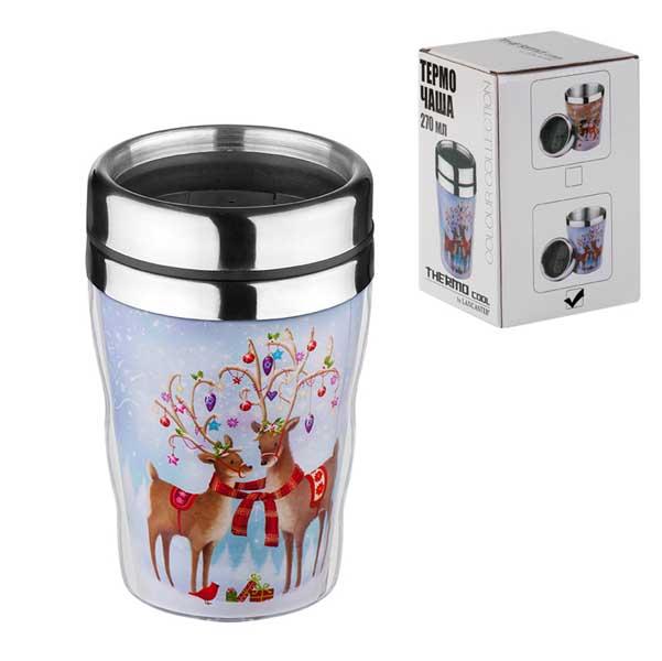 Термо чаша Коледни еленчета