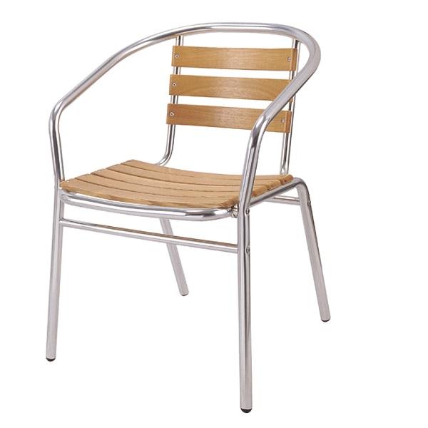 Алуминиев стол + дърво Muhler