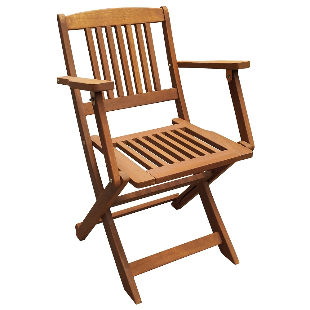 Сгъваем стол с подлакътници Muhler дърво Meranti